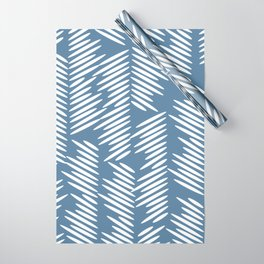 Leaves abstract in blue Wrapping Paper