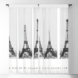 1888-1889 The Rise of the Eiffel Tower Construction Sequence black and white photography Blackout Curtain