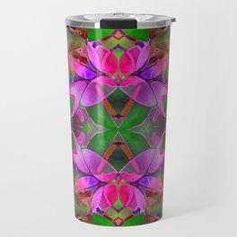 Floral Fractal Art G374 Travel Mug