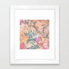 Get Naked Floral Framed Art Print