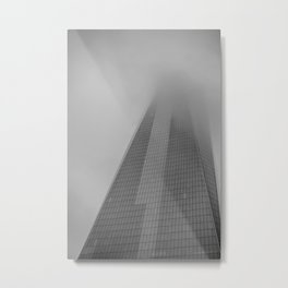 One World Trade Center on a Foggy Day Metal Print