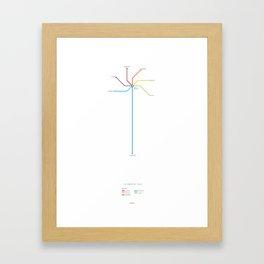 Character Map – The Breakfast Club Framed Art Print