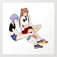 evangelion Art Prints featuring Evangelion by Kovvu