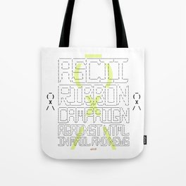 ASCII Ribbon Campaign against HTML in Mail and News – White Tote Bag