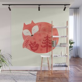 sleeping fox Wall Mural