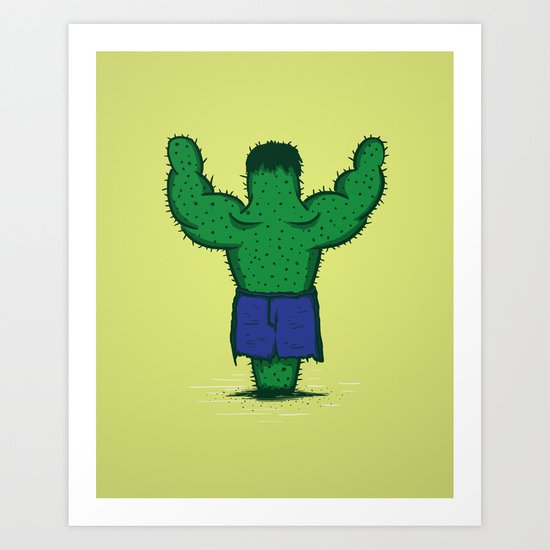The Incredible Hulktus Art Print