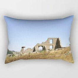 Ancient Italian Village Ruins Rectangular Pillow