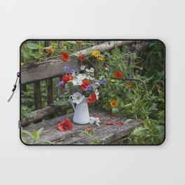 Nostalgic Flower Still Life In My Country Garden Laptop Sleeve