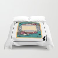 rap Duvet Covers featuring rap king by Red Monkey