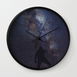 Iluminando la via lactea Wall Clock