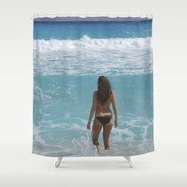 Carribean sea 1 Shower Curtain