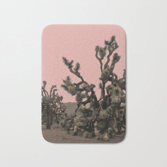 pink joshua tree Bath Mat