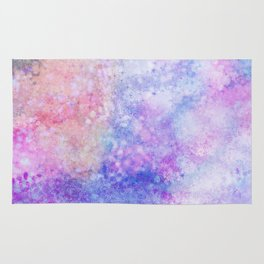 Abstract pink blue ultraviolet hand painted watercolor pattern Rug