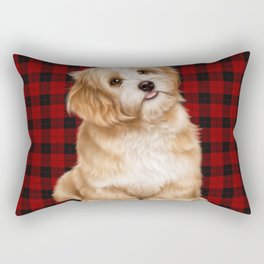 Tartan Dog Rectangular Pillow