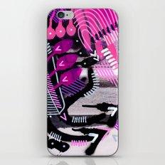 Wave black iPhone & iPod Skin