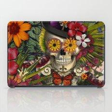 Baron in Bloom - Botanical Skull Baron Samedi Voodoo Deity iPad Case