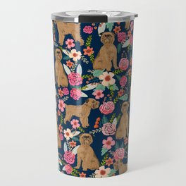 Brussels Griffon florals pattern for dog lovers custom pet friendly gifts for all dog breeds Travel Mug