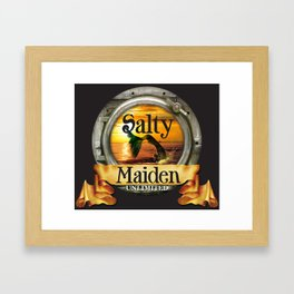 Mermaid -Salty Maiden Portal Framed Art Print