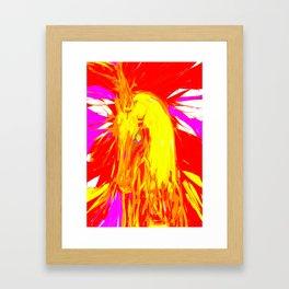 Fire Unicorn Framed Art Print
