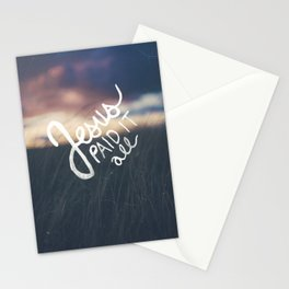 Jesus Paid It All Stationery Cards