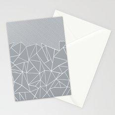 Ab Linear Grey Stationery Cards