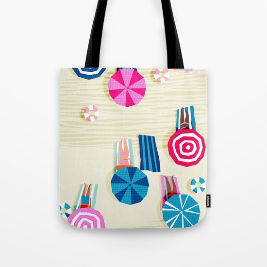 A-OK - memphis throwback neon wacka design pop art illustration beach socal vacation 1980s 80s style Tote Bag