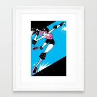 roller derby Framed Art Prints featuring Roller Derby!!! by Martin Gee