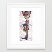 legs Framed Art Prints featuring Legs by Moonlake Designs