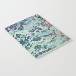 Sunken Forest marbleized print Notebook