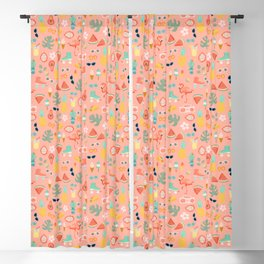 Small Scale Summer FUn Blackout Curtain
