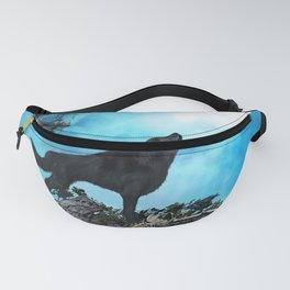 Awesome wolf in the night Fanny Pack