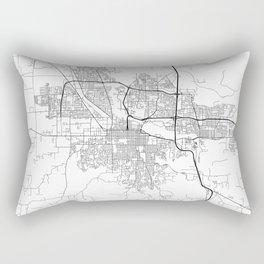 Minimal City Maps - Map Of Eugene, Oregon, United States Rectangular Pillow