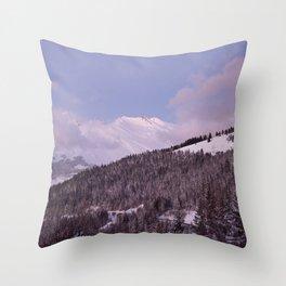 Purple Moutain Mont Blanc Throw Pillow