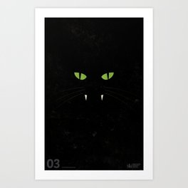"""Black Cat"" Halloween Poster Art Print"