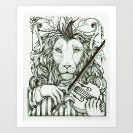 Lionviol Art Print