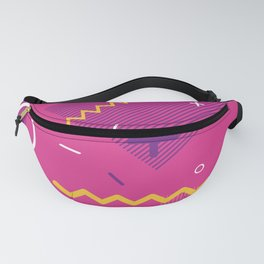Peacock Pink Memphis Throwback Retro 1980s 80s Trendy Hipster Pattern Eighties Fanny Pack