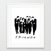 friends tv Framed Art Prints featuring Friends by FjwDesigns