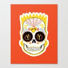 Bart de los Muertos Canvas Print
