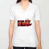 kill la kill V-neck T-shirts featuring Kill by MauroPeroni