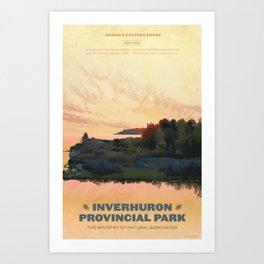 Inverhuron Provincial Park Art Print