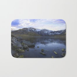 Frozen Lake Idwal Bath Mat