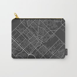 Guelph Map, Canada - Gray Carry-All Pouch