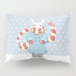 Bunny Brother Out On A Winter Day Pillow Sham