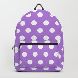 Lavender Polka Dots Backpack