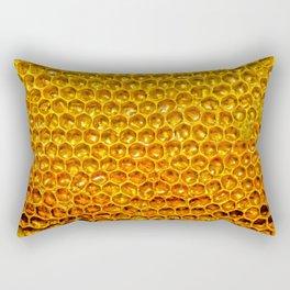 Yellow honey bees comb Rectangular Pillow