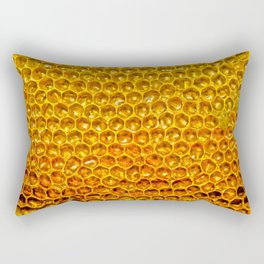 Yellow honey bees comb Rectangular Pillow