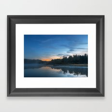 Pendleton Dawn Lake Framed Art Print