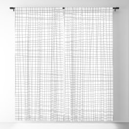 White and Black Grid - Disorderly Order Blackout Curtain