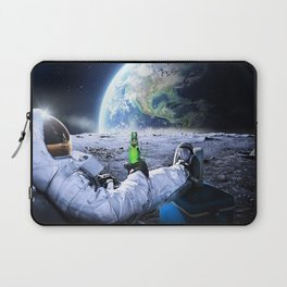 Astronaut on the Moon with beer Laptop Sleeve