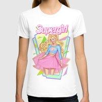 supergirl T-shirts featuring SUPERGIRL by OSKAR V.
